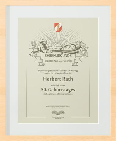 Ehren-Urkunde